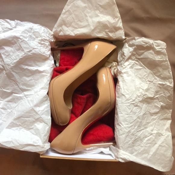 c25b501aed3c Christian Louboutin Shoes - Christian Louboutin Filo 120 Patent Nude 37.5